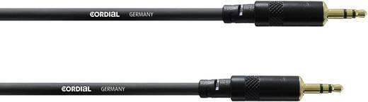 Klinken Verbindungskabel [1x Klinkenstecker 3.5 mm - 1x Klinkenstecker 3.5 mm] 0.6 m Schwarz Cordial CFS 0,6 WW