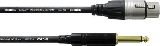 Cordial CCM 10 FP XLR Verbindungskabel [1x XLR-Buchse - 1x Klinkenstecker 6.35 mm] 10 m Schwarz