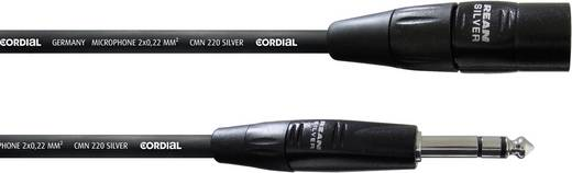 Cordial CIM 3 MV XLR Verbindungskabel [1x XLR-Stecker - 1x Klinkenstecker 6.35 mm] 3 m Schwarz