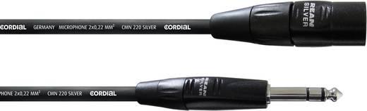 XLR Verbindungskabel [1x XLR-Stecker - 1x Klinkenstecker 6.35 mm] 1.50 m Schwarz Cordial CIM 1,5 MV