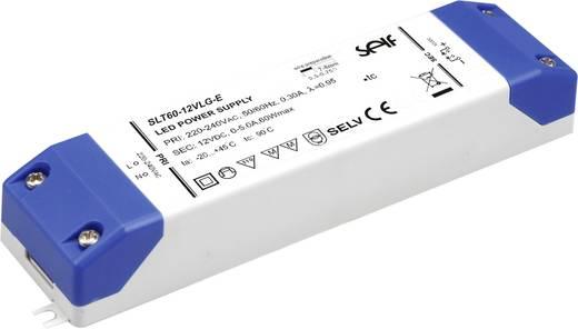 Self Electronics SLT60-12VLG-E LED-Treiber Konstantspannung 60 W 0 - 5 A 12.0 V/DC Möbelzulassung, nicht dimmbar, Überla