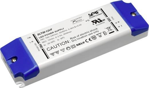 Self Electronics SLT30-12VFG LED-Trafo Konstantspannung 30 W 0 - 2.5 A 12 V/DC nicht dimmbar, Möbelzulassung, Überlastsc