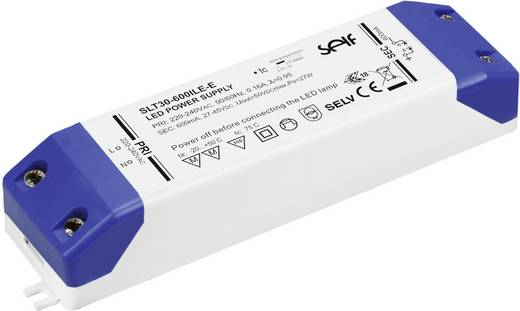Self Electronics SLT30-700ILE-E LED-Treiber Konstantstrom 30.1 W 700 mA 27.0 - 43.0 V/DC Möbelzulassung, nicht dimmbar,