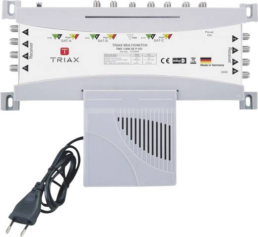 Triax TMS 1308 SE P-EU SAT Multischalter Eingänge (Multischalter): 13 (12 SAT/1 terrestrisch) Teilnehmer-Anzahl: 8
