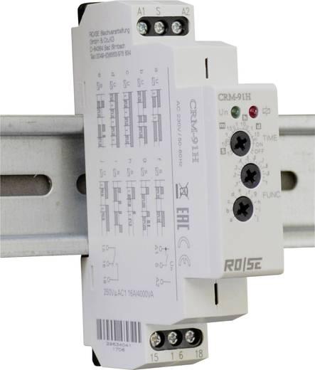 Rose LM CRM-91H/UNI Zeitrelais Multifunktional 230 V/AC 1 St. Zeitbereich: 0.1 s - 10 d 1 Wechsler