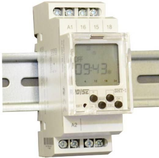 Zeitschaltuhr für Hutschiene Rose LM SHT-1/UNI 1 Wechsler 16 A 24 V/DC, 250 V/AC Tagesprogramm, Wochenprogramm, Zufalls