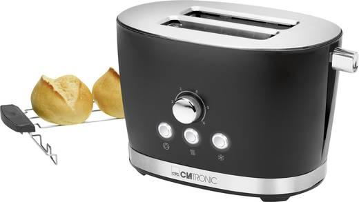 Clatronic TA3690 schwarz Toaster mit Brötchenaufsatz Schwarz