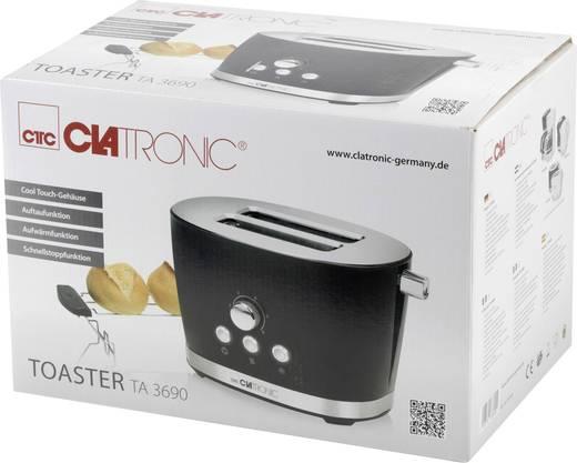 Toaster mit Brötchenaufsatz Clatronic TA3690 schwarz Schwarz