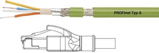 RJ45 Netzwerk Anschlusskabel CAT 5e SF/UTP 0.5 m Grün starrer Innenleiter, Geflechtschirm, Folienschirm Helukabel