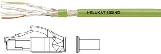 RJ45 Netzwerk Anschlusskabel CAT 6a S/FTP 0.5 m Grün PUR-Mantel Helukabel
