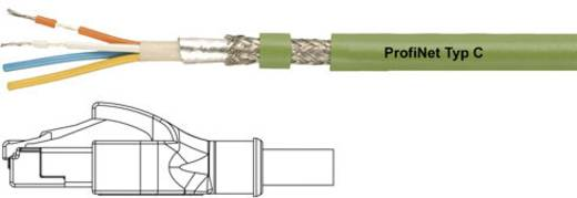 Helukabel RJ45 Netzwerk Anschlusskabel CAT 5e SF/UTP 5 m Grün PUR-Mantel, Geflechtschirm, Folienschirm, flexibler Innenl
