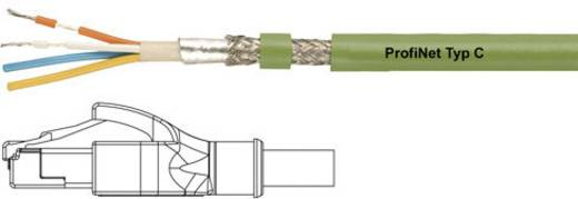 RJ45 Netzwerk Anschlusskabel CAT 5e SF/UTP 0.5 m Grün PUR-Mantel, Geflechtschirm, Folienschirm, flexibler Innenleiter He