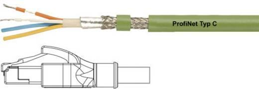 RJ45 Netzwerk Anschlusskabel CAT 5e SF/UTP 1 m Grün PUR-Mantel, Geflechtschirm, Folienschirm, flexibler Innenleiter Helu