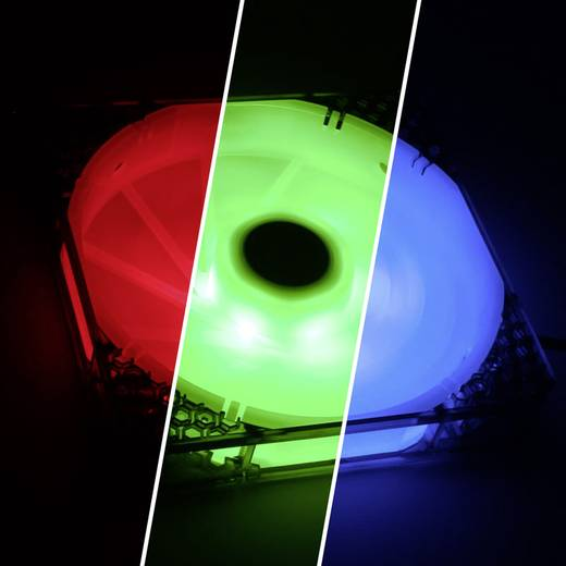 Bitfenix Spectre Pro RGB PC-Gehäuse-Lüfter Schwarz (transparent), Weiß (transparent) (B x H x T) 140 x 140 x 25 mm