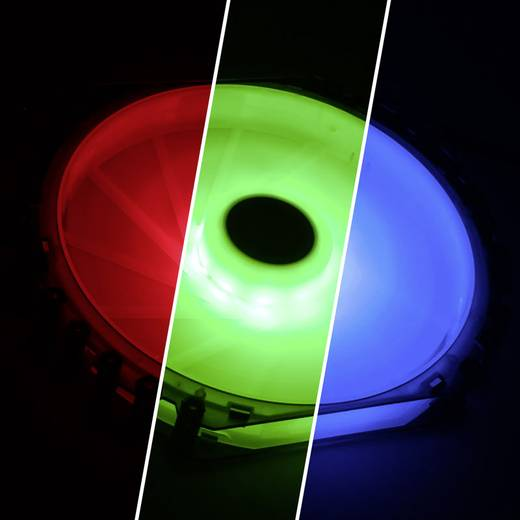 PC-Gehäuse-Lüfter Bitfenix Spectre Pro RGB Schwarz (transparent), Weiß (transparent) (B x H x T) 230 x 230 x 25 mm