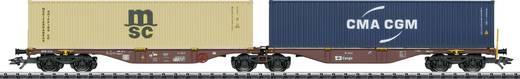TRIX H0 T24800 H0 Doppel-Containertragwagen der CD Cargo