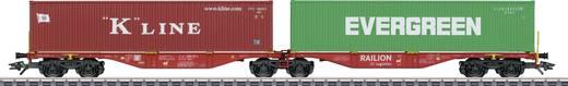 Märklin 47800 H0 Doppel-Containertragwagen der Railion DB Logistics