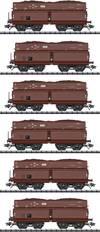 TRIX H0 T24122 H0 6er-Set Selbstentladewagen de...