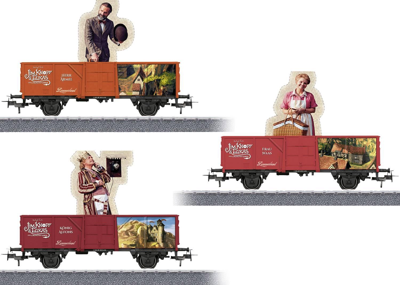 Märklin 44818 Jim Knopf Offener Güterwagen /'Lavawagen/' H0