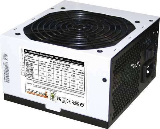 Rasurbo ATX Netzteil 550 W ATX 12V V2.3 Version1x 20+4-Pin Mainbord, 1x 4-Pin ATX12V, 2x 4-Pin HDD, 3x 5-Pin S-ATA, 1x 6-Pin PCIe, 1x 4-Pin FDD