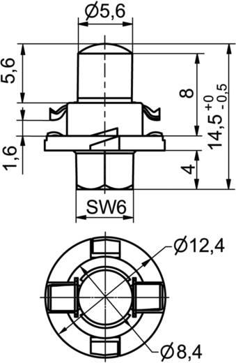 Signal Construct LED-Lampe BX8,4d Blau 12 V/AC, 12 V/DC 300 mcd MWTH8442