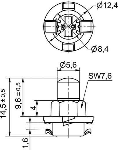 Signal Construct LED-Lampe B8.0-12 (EBSR/BAX) ähnlich Rot 12 V/AC, 12 V/DC 400 mcd MWTB8402