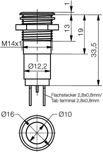LED-Signalleuchte Rot 12 V/AC, 12 V/DC Signal Construct SMFC14022