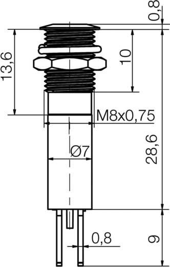 LED-Signalleuchte Gelb 24 V/AC, 24 V/DC Signal Construct SFEU081245