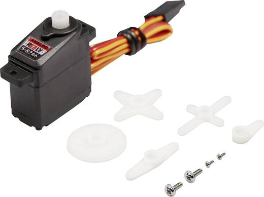 Reely Mini-Servo S-8246 Analog-Servo Getriebe-Material: Kunststoff Stecksystem: JR