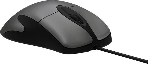 USB-Maus BlueTrack Microsoft Intellimouse Classic Schwarz, Dunkel-Grau