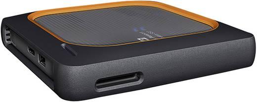 WLAN-SSD-Festplatte 500 GB Western Digital My Passport™ Wireless SSD Grau WDBAMJ5000AGY-EESN SD-Kartenslot