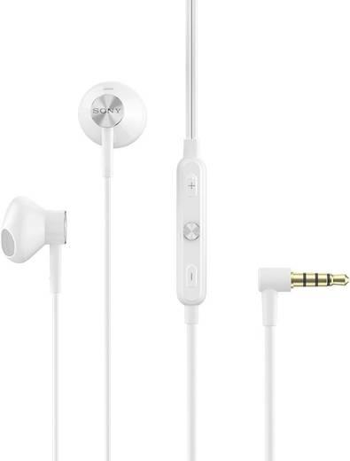 Kopfhörer Sony 1280-8592 In Ear Lautstärkeregelung, Headset Weiß