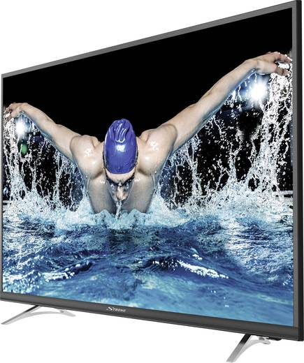 Strong SRT 49UA6203 LED-TV 123 cm 49 Zoll EEK A CI+, DVB-C, DVB-S2, DVB-T2, Smart TV, UHD, WLAN Schwarz