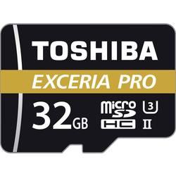 Pamäťová karta micro SDHC, 32 GB, Toshiba EXCERIA™ PRO M501, Class 10, UHS-II, UHS-Class 3, vr. SD adaptéru