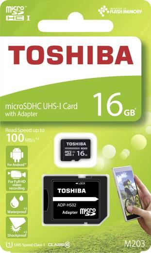 microSDHC-Karte 16 GB Toshiba M203 Class 10, UHS-I inkl. SD-Adapter