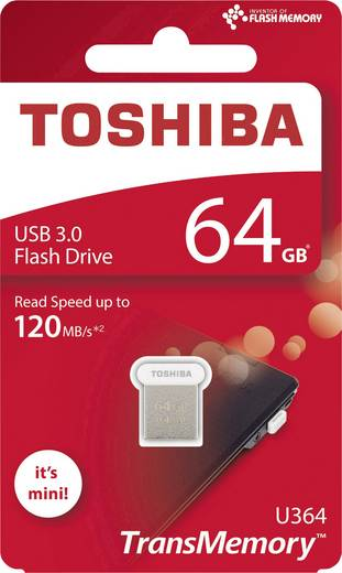 Toshiba TransMemory U364 USB-Stick 64 GB Weiß THN-U364W0640E4 USB 3.0