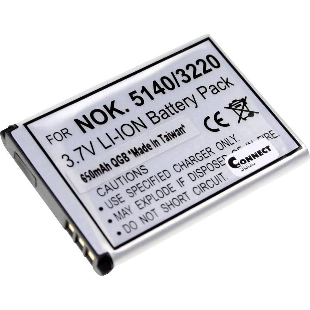 Connect 3000 BL-5B Camera-accu Vervangt originele accu BL-5B 3.7 V 650 mAh