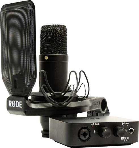 Audio Interface RODE Microphones NT1/AI-1 Kit Monitor-Controlling