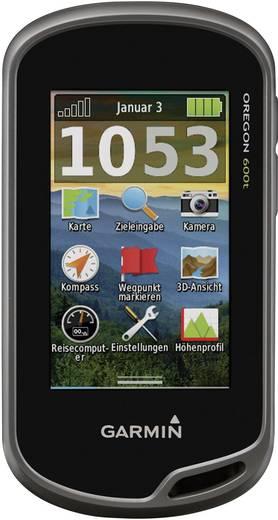 Outdoor Navi Fahrrad, Geocaching, Wandern Garmin Oregon 600T Europa Bluetooth®, GLONASS, GPS, inkl. topographische Karten, spritzwassergeschützt