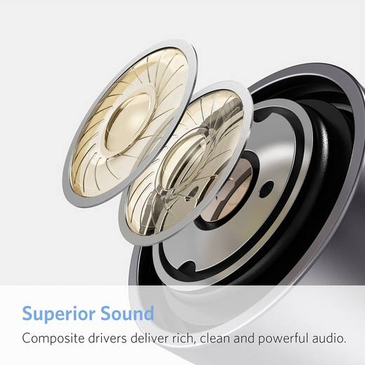 Anker SoundBuds Life Bluetooth® Sport Kopfhörer In Ear Headset, Nackenbügel, Noise Cancelling, Schweißresistent, Wasserb