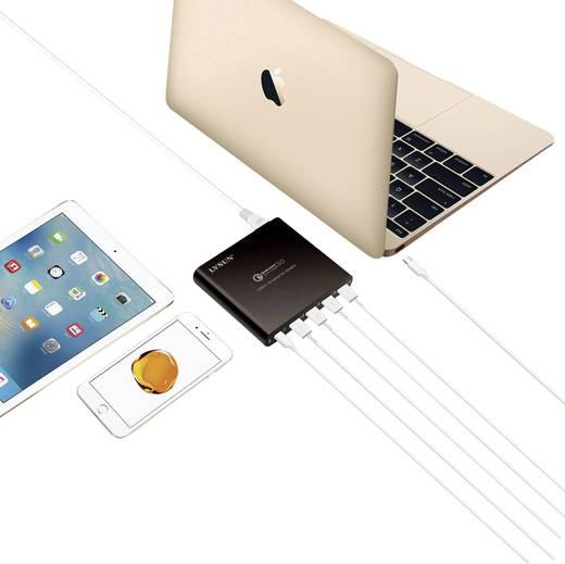LVSUN 80W USB-C, QC3.0 LS-Q5U-PD USB-Ladestation Steckdose Ausgangsstrom (max.) 17000 mA 5 x USB 3.0 Buchse A, USB-C™ Bu