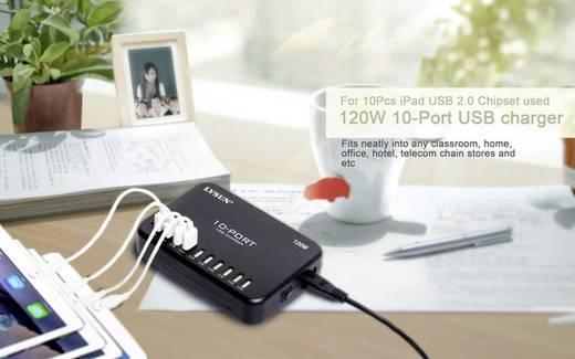 LVSUN 120W Smart 10-Port LS-10U24F-AE USB-Ladestation Steckdose Ausgangsstrom (max.) 24000 mA 10 x USB