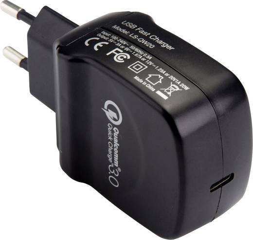 USB-Ladegerät LVSUN QW20-C LS-QW20-C Steckdose Ausgangsstrom (max.) 3000 mA 1 x USB-C™ Buchse Qualcomm Quick Charge 3.0