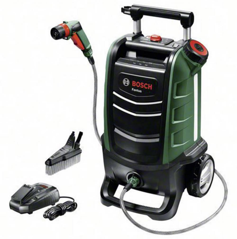 bosch home and garden fontus mobile waschstation mit akku 12 bar
