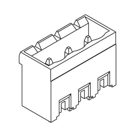 TE Connectivity Buchsengehäuse-Platine Polzahl Gesamt 3 Rastermaß: 5.08 mm 796636-3 1 St.