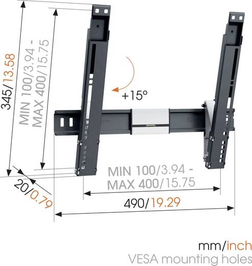 """Vogel´s THIN 415 TV-Wandhalterung 66,0 cm (26"""") - 139,7 cm (55"""") Neigbar"""