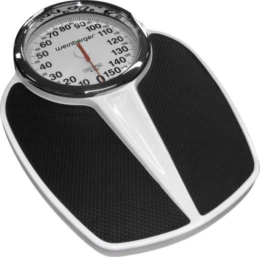 Analoge Personenwaage Mebus Wägebereich (max.)=150 kg Schwarz, Weiß