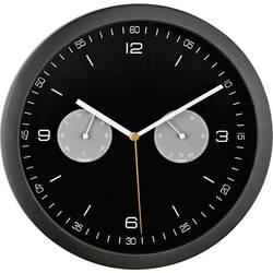 DCF nástenné hodiny Mebus 52825, vonkajší Ø 260 mm, čierna