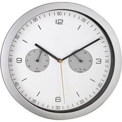 DCF nástenné hodiny Mebus 52827, vonkajší Ø 260 mm, strieborná