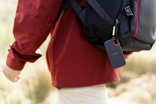 SanDisk Extreme® Portable Externe SSD Festplatte 2 TB Schwarz USB-C™ USB 3.1